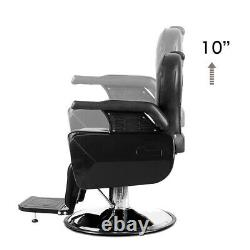 2Pcs Recliner Hydraulic Barber Chair All Purpose Salon Spa Beauty Hair Equipment