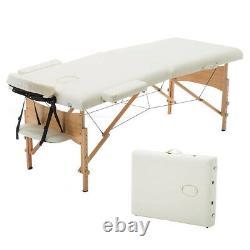 2-Folded 84L Massage Table Portable Facial SPA Bed Tattoo Salon Beauty 5 Color