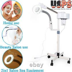 2 In 1 Facial Steamer + 5X Magnifying Lamp Ozone Spa Salon Beauty Equipment US