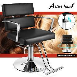 360° All Purpose Hydraulic Black Barber Chair Salon Beauty Spa Shampoo Styling