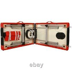 3 Fold 84L Aluminum Massage Table Facial Salon SPA Bed Carry Case Health Beauty