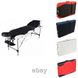 3 Pad Aluminum Portable withMassage Table Chair Beauty Facial Salon SPA Bed & Case