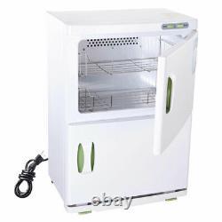 46L Hot Towel Warmer Cabinet UV Sterilizer Heater Spa Salon Beauty Equipment