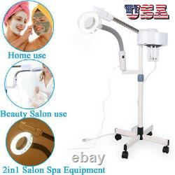 5X 2 In 1 Magnifying Facial Steamer Lamp Hot Ozone Beauty Machine Spa Salon\\