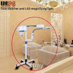 5X 2 In 1 Magnifying Facial Steamer Lamp Hot Ozone Beauty Machine Spa Salon US
