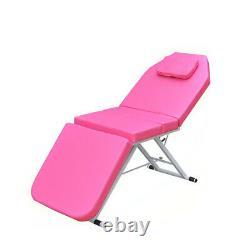 71'' Massage Table 3-Fold Adjustable Portable Spa/Salon/Tattoo/Beauty Bed Pink