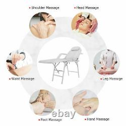 73 Portable Tattoo Parlor Spa Salon Facial Bed Beauty Massage Table Chair White