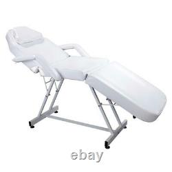 75 Adjustable Facial Massage Table Bed Chair Beauty Salon Spa Equipment-White