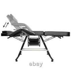 75 Salon SPA Massage Bed Tattoo Barber Chair Facial Table Beauty With Basket