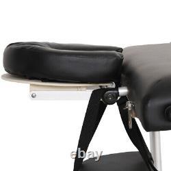 84''L Massage Table 3 Fold Adjustable Portable Aluminium SPA Beauty Salon Bed US