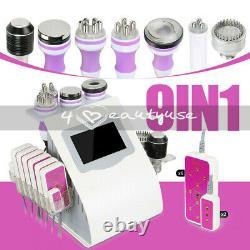 9 in1 40K Cavitation Vacuum Multipolar RF Cold Hammmer Slimming Beauty Salon Spa
