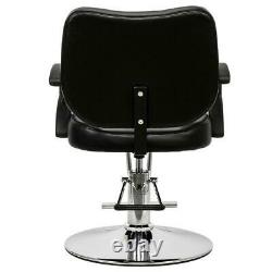 Adjustable Barber Chair Salon Beauty Spa Chair Equipment Black Furniture