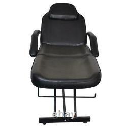 Adjustable Beauty Spa Facial Tattoo Massage Table Chair Salon Black All Purpose
