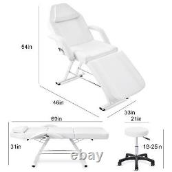 Adjustable Massage Table Barber Tattoo Spa Salon Stool Facial Bed Beauty Chair
