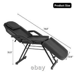 Adjustable Salon SPA Black Massage Bed Facial Beauty Barber Chair Equipment