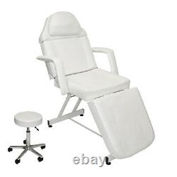 Adjustable Stationary Massage Facial Table Bed Beauty Spa Salon Equipment WHITE