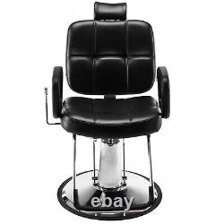 All Purpose Hydraulic Reclining Barber Chair Salon Beauty Spa Styling Equipments