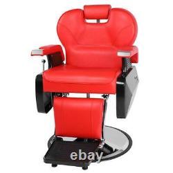 All Purpose Hydraulic Reclining Barber Chairs Salon Beauty Spa Shampoo Black New