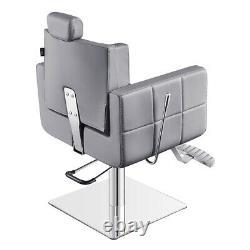 All Purpose Salon Chair Beauty Salon and Spa Reclining Chair TETRIS in Grey