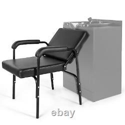 Auto Recline Barber Chair Shampoo Styling Hair Spa Beauty Salon Equipment Black