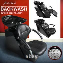 Backwash Barber Shampoo Chair Bowl Sink Unit Station Salon Spa Beauty Equipment