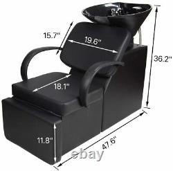 Backwash Beauty Barber Salon Chair Sink Bowl Shampoo Hair Station Spa Reclining