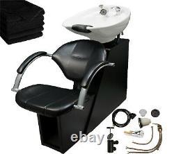 Backwash Ceramic Shampoo Bowl Sink Chair Unit Station Beauty Spa Salon Equipment
