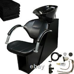 Backwash Shampoo Chair ABS Bowl Unit Basin Barber Salon Spa Beauty Equipment