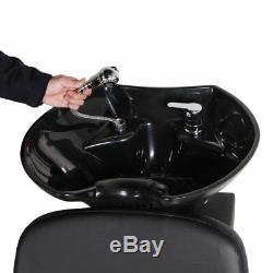 Backwash Sink Beauty Salon Chair Barber Shampoo Adjustable Station Equipment Spa