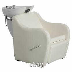 BarberPub Backwash Ceramic Shampoo Bowl Sink Chair Station Spa Salon Beauty 9089