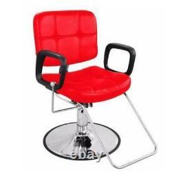BarberPub Reclining Hydraulic Barber Chair Salon Beauty Spa Styling Chair 9837