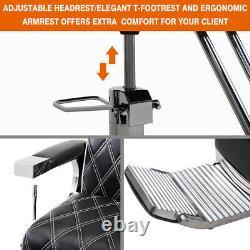 Barber Chair Heavy Duty Hydraulic Recline Styling Salon Beauty Spa Equipment