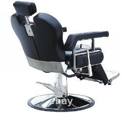 Barber Chair Hydraulic Recline Salon Beauty Spa Shampoo Hair Styling Black