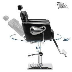 Barber Chair Reclining Salon Chair, Spa Salon Styling Beauty Equipment 8132BK