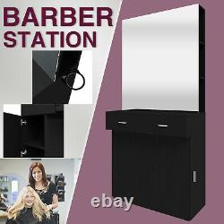 Barber Salon Station Wall Mount Hair Beauty Spa Stylist Stations Furnitures