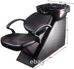 Beauty Salon Barber Backwash Chair Shampoo Reclining Bowl Sink Chair Spa Station