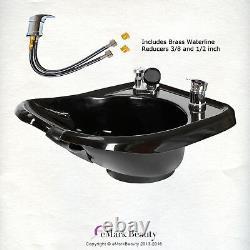 Beauty Salon Shampoo Bowl Sink Backwash Salon Spa Equipment TLC-B13W-GT