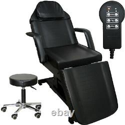 Black Fully Electric Massage Facial Table Bed Chair Beauty Spa Salon Equipment