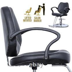 Black Heavy Duty Salon Chair Hydraulic Lift Barber Chair Hair Stylist Beauty Spa