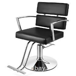 Black Hydraulic Barber Chair All Purpose Salon Beauty Spa 360° Shampoo Styling