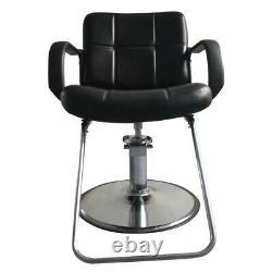 Black Hydraulic Barber Chair Salon Hair Stylist Station Beauty Spa Shampoo New