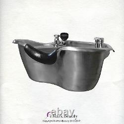 Brushed Stainless Steel Shampoo Bowl salon sink Spa Beauty Equipment TLC-1367