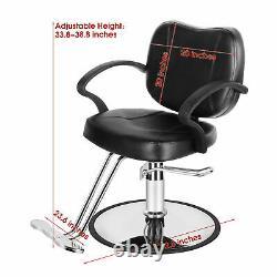 Classic Hydraulic Barber Chair Salon Beauty Spa Tattoo Hair Styling Equipment