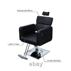 Classic Reclining Hydraulic Barber Chair Salon Beauty Spa Styling Equipment New