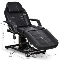 Electric Hydraulic Tattoo Salon Barber Chair Massage Table Facial Bed SPA Beauty