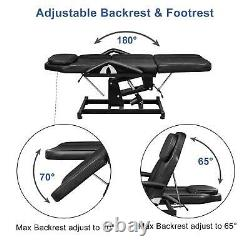 Electric Massage Table Spa Salon Facial Tattoo Bed Beauty Barber Chair with Stool