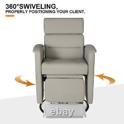 Electric Recline Barber Chair All Purpose Hydraulic Salon Beauty Spa HairStyling