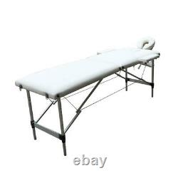 Flodable 2 Section Massage Table Tattoo Salon Spa Beauty Facial Bed White