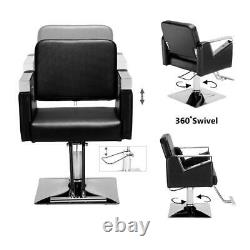 Hair Beauty Equipment Hydraulic Barber Chair Styling Work Station Salon Spa US