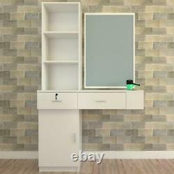 Haircut Salon Wall Mount Styling Station Barber Cabinet Beauty Dest Salon Spa